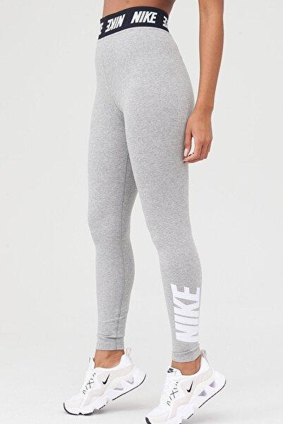 Nike Sportswear Yüksel Belli Gri Spor Tayt