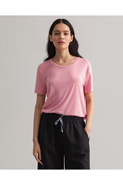 Gant Kadın Pembe Kısa Kollu T-shirt