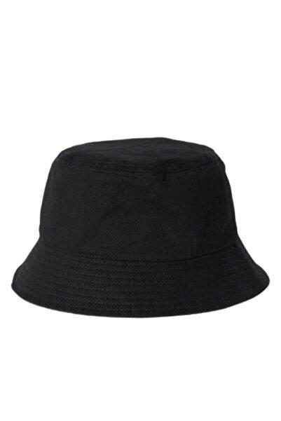 Tek Şapka Unisex Siyah Bucket Balıkçı Şapka