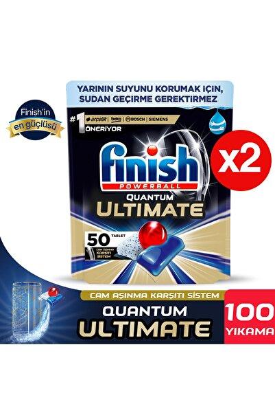 Finish Quantum Ultimate 100 Kapsül Bulaşık Makinesi Deterjanı Tableti (50x2)