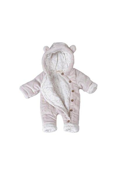 POKY BEBE Bebek Hello Ayıcık Işlemeli Düğmeli Coral Soft Elyaflı Uyku Tulumu Yıkanabilir-1426