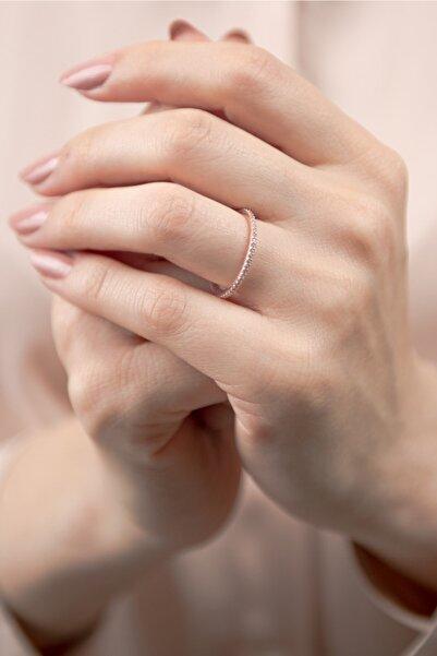 Mode Silver Ince Tamtur Rose Gold Gümüş Yüzük