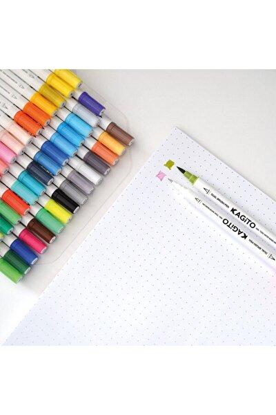 kagito Çift Taraflı Brush Pen 48'li Set