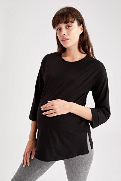 DeFacto Yırtmaç Detaylı Fit Hamile T-Shirt
