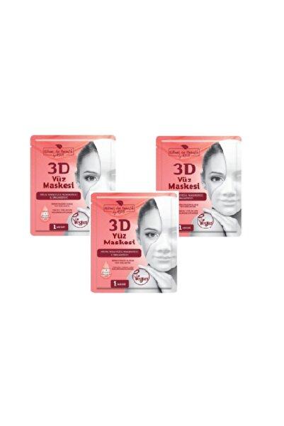 Rituel De Beaute Hücre Yenileyici & Nemlendirici & Canlandırıcı 3d Yüz Maskesi 3'lü
