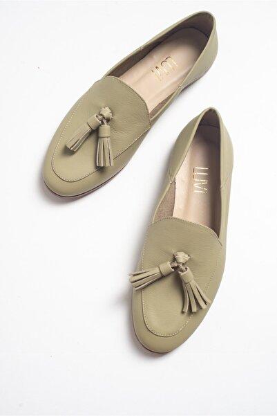 LuviShoes F04 Yesil Cilt Hakiki Deri Ayakkabı