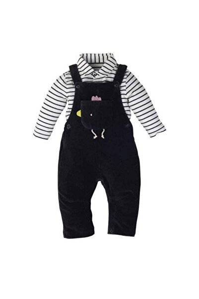Mamino Salopet Takım Gri Erkek Bebek
