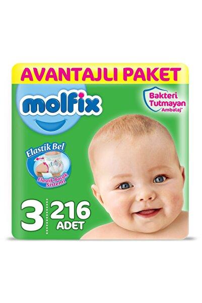 Molfix Bebek Bezi 3 Beden Midi Avantajlı Paket 216 Adet