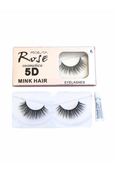 Roesıa Rose Cosmetics 5d Model İpek Takma Kirpik No:6