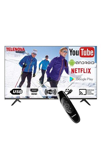 """TELENOVA 43sp8001/20 43"""" (109 Ekran) Dahili Uydu Alıcılı Android Smart Tv"""