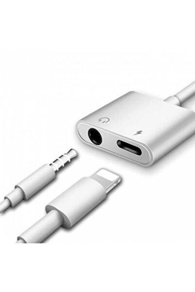Universal Iphone 7-8-10-11 Için Aux Ve Şarj Çevirici