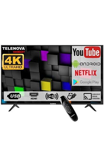 """TELENOVA 58s4k8001/20 58"""" (147cm) 4k Uhd Dahili Uydu Alıcılı Android Smart Tv"""