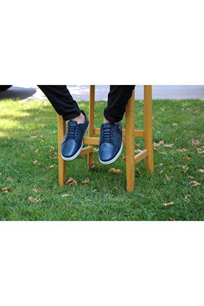 Akel Erkek Lacivert Bağcıklı Ayakkabı
