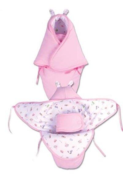 Sevi Bebe Pembe Bel Koruyuculu Kundak Battaniye - Interlok