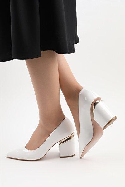 Buffalo Maria Rugan Beyaz Topuklu Ayakkabı