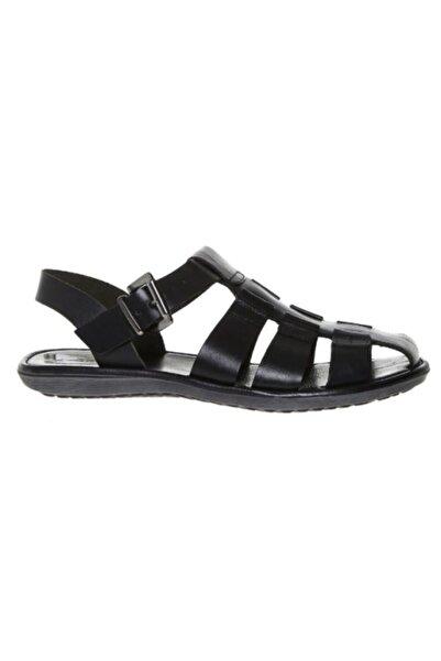 Greyder Erkek Siyah Hakiki Deri Sandalet 63611