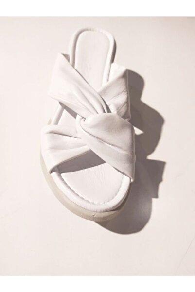 Stella Kadın Beyaz Topuklu Terlik 20233