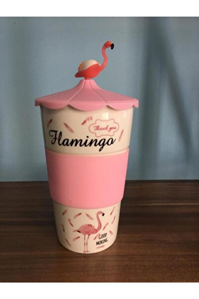 Zirve Flamingo Bardak Slikon Tutamac Ve Kapak