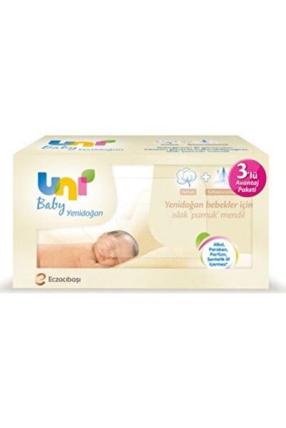 Uni Baby Yenidoğan 3'lü Avantaj Paket Islak Pamuk Mendil