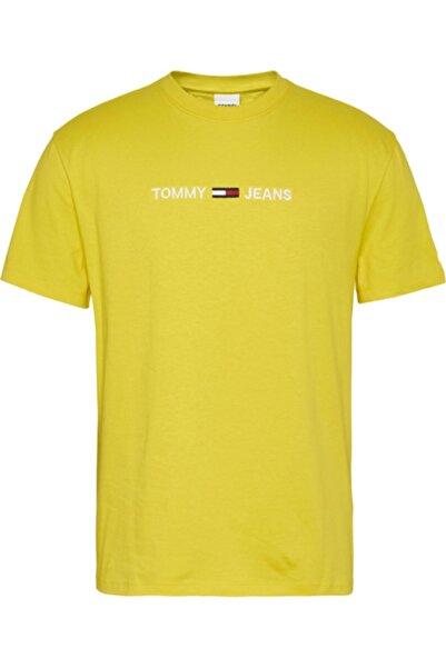 Tommy Hilfiger Erkek Sarı Tişört