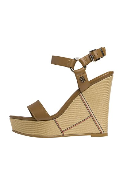 Tommy Hilfiger ELEVATED LEATHER WEDGE SANDAL