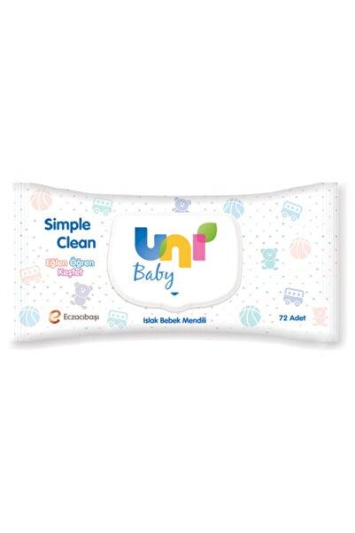 Uni Baby Sımple Clean Islak Mendil 72 Li