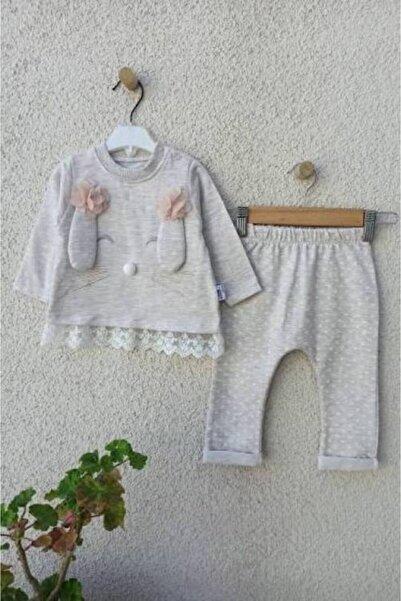 BabyHope Kız Bebek Bej Tavşan Modeli 2'li