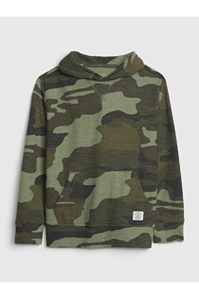 GAP Erkek Çocuk Yeşil Kapüşonlu Sweatshirt