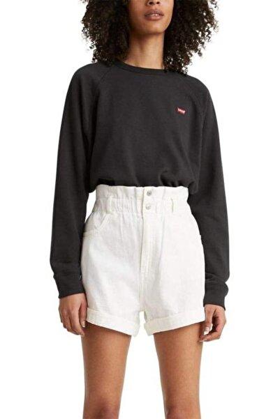 Levi's Kadın Düz Siyah Oversize Sweatshirt 24905-0002