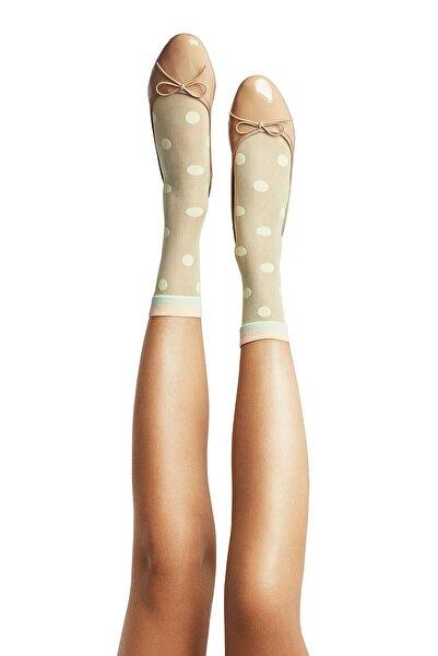 Penti Kadın Sarı Yellow Dots Desenli Soket Çorap