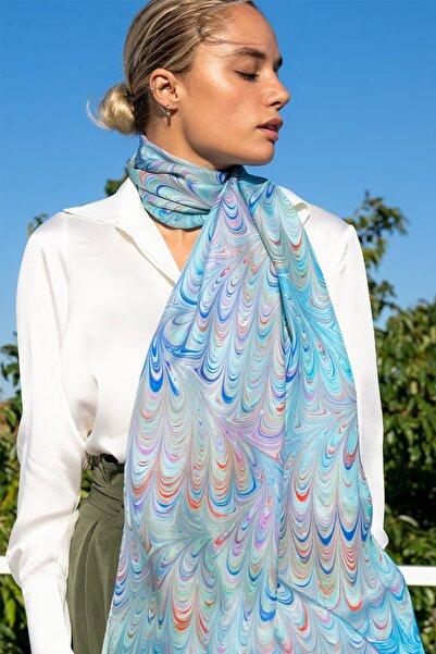Silk and Cashmere Kadın Beyaz Geniş Manşet Uzun Kollu Gömlek