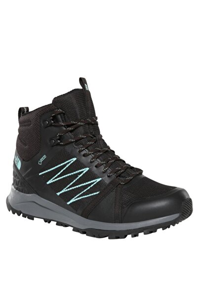THE NORTH FACE Litewave Fastpack II Mid GoreTex Kadın Outdoor Bot & Bootie Siyah/Mavi