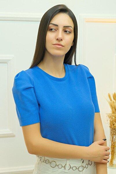 Haydigiy Crop Bluz Indigo - 8068.1230. - Y.s