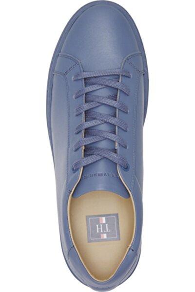 Tommy Hilfiger Erkek Mavi Cupsole Leather Sneaker