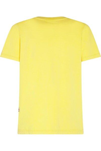 Tommy Hilfiger Erkek Sarı Kısa Kol T-Shirt