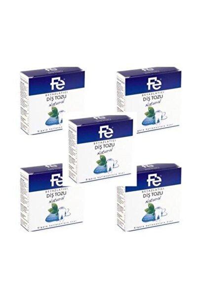 Fe Diş Tozu Natural / Herbal Beyazlatıcı 50 Gr X 5 Adet
