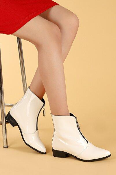 Ayakland 007-02 Rugan Fermuarlı Termo Taban Bayan Bot Ayakkabı