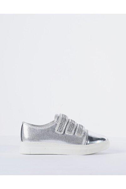 Vision Kadın Gri Parlak Detaylı Sneaker