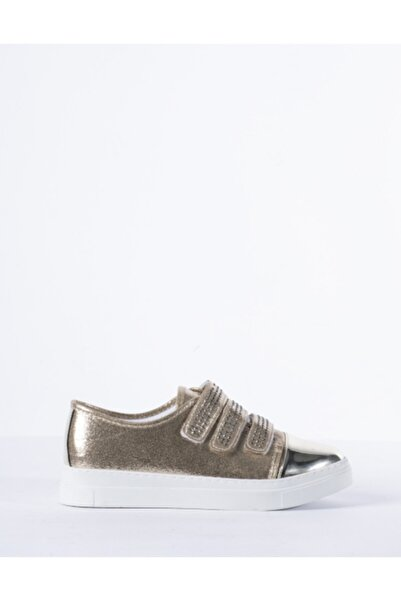 Vision Kadın Platin Sarı Parlak Detaylı Sneaker