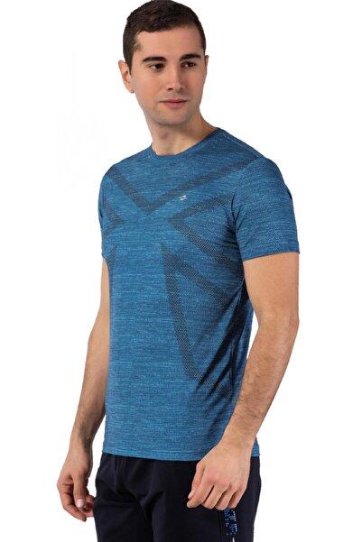 Crozwise Erkek Mavi T-shirt 7119-01