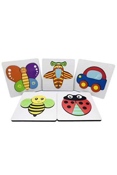 Wooden Toys 3d Ahşap Eğitici Puzzle Yapboz Seti 5 Adet