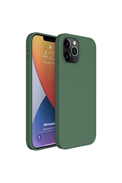 Microsonic Apple Iphone 12 Pro Max Kılıf Groovy Soft Koyu Yeşil