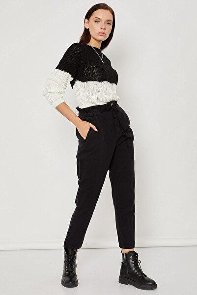 Arma Life Kadın Siyah Yüksek Bel Gabardin Pantolon