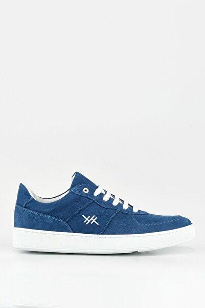 Hotiç Hakiki Deri Mavi Erkek Spor Ayakkabı