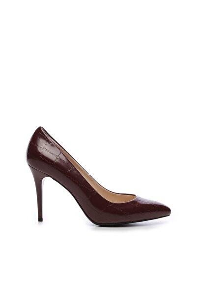 KEMAL TANCA Bordo Kadın Vegan Klasik Topuklu Ayakkabı 723 101 BN AYK SK19-20
