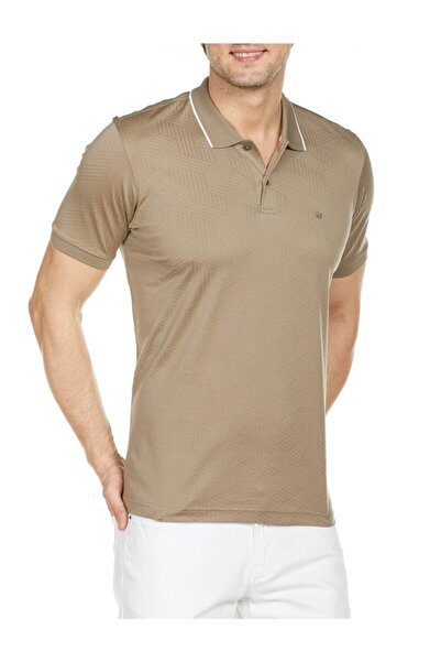 Bisse Erkek Bej Polo Yaka T'shirt