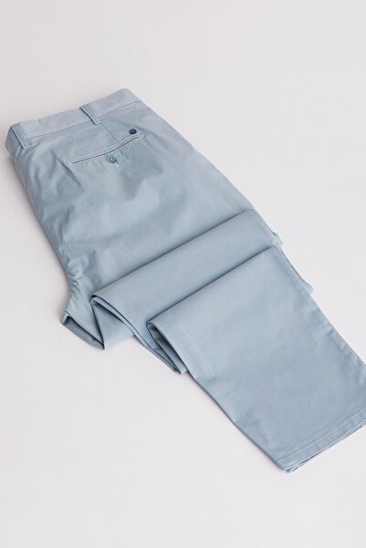 Dufy Erkek Mint Büyük Beden Düz Pantolon