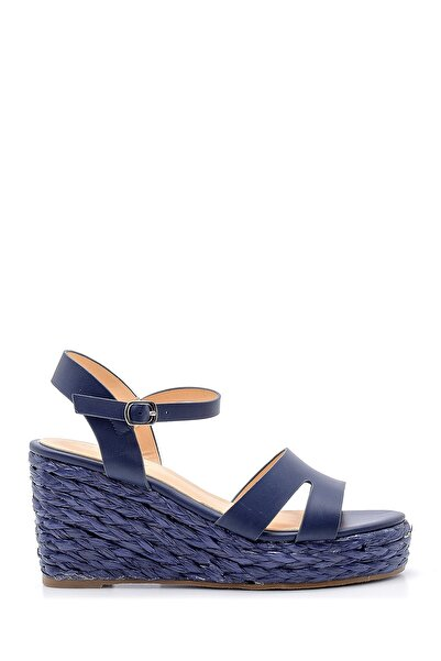 Derimod Kadın Lacivert Dolgu Topuklu Sandalet