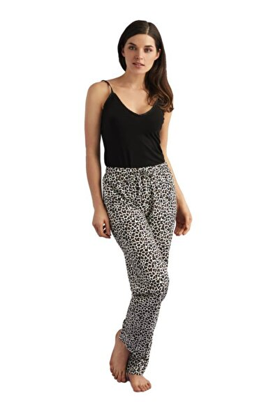 AVON Kadın Siyah Leoparh Pijama Takımı