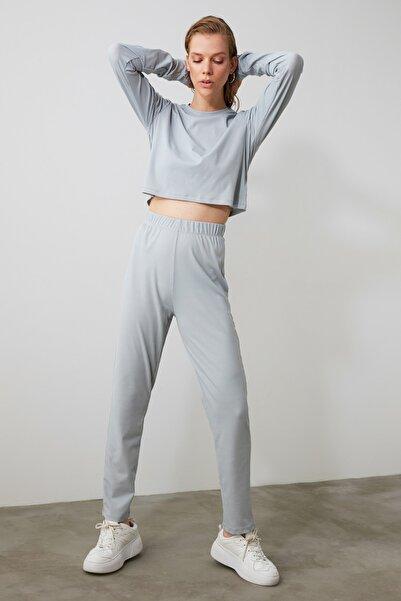 TRENDYOLMİLLA Mavi Basic Örme Pantolon TWOAW21PL0624